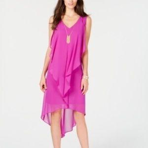 NWT - Thalia Sodi Layered Hi-Lo Shift Dress SMALL